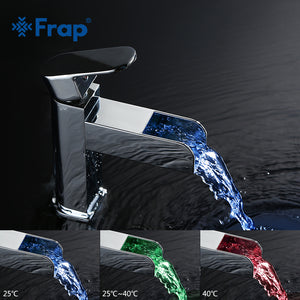 LED Waterfall Faucet Waterpower Electricity Generation Luminescence