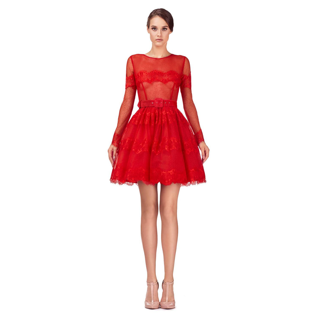 Short Tulle Dress Red