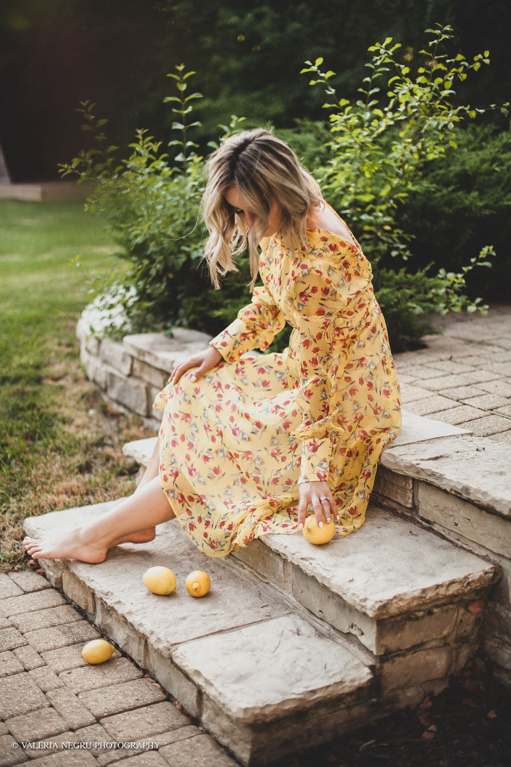 Lemon Silk Dress