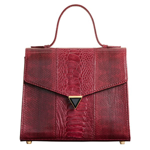 Illara Ava Top Handle Bag Bordeaux Front View