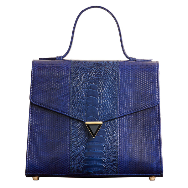 Illara Ava Top Handle Bag Royal Blue Front View