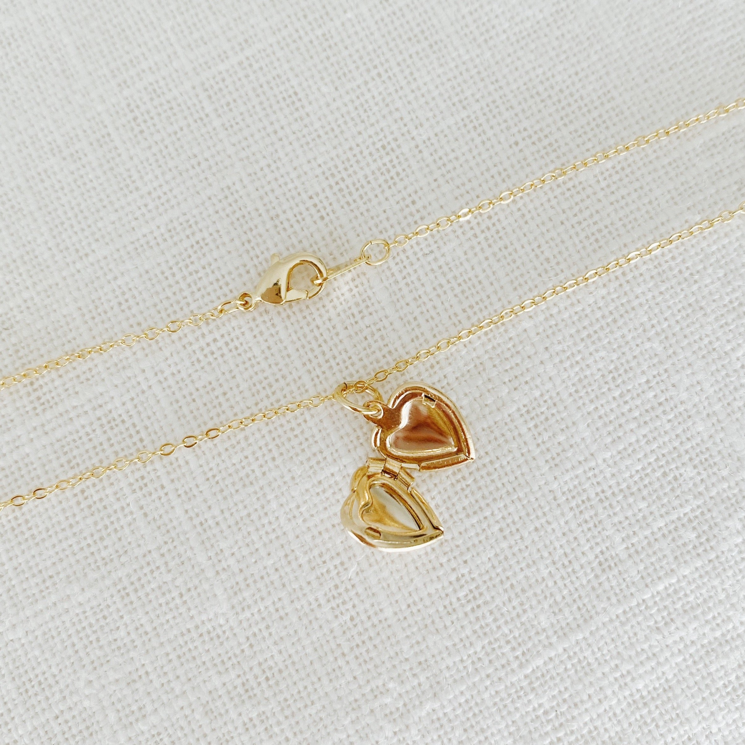 Mini Heart Locket Necklace