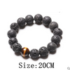 Wholesale Black Volcanic Lava Stone Tiger Eye 12mm Beaded bracelet For Men Brading Macrame Men girl Bracelets Fashion Jewelry  - handwristband