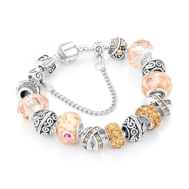 Ribbon Charm Bracelet for Women Luxury  - handwristband