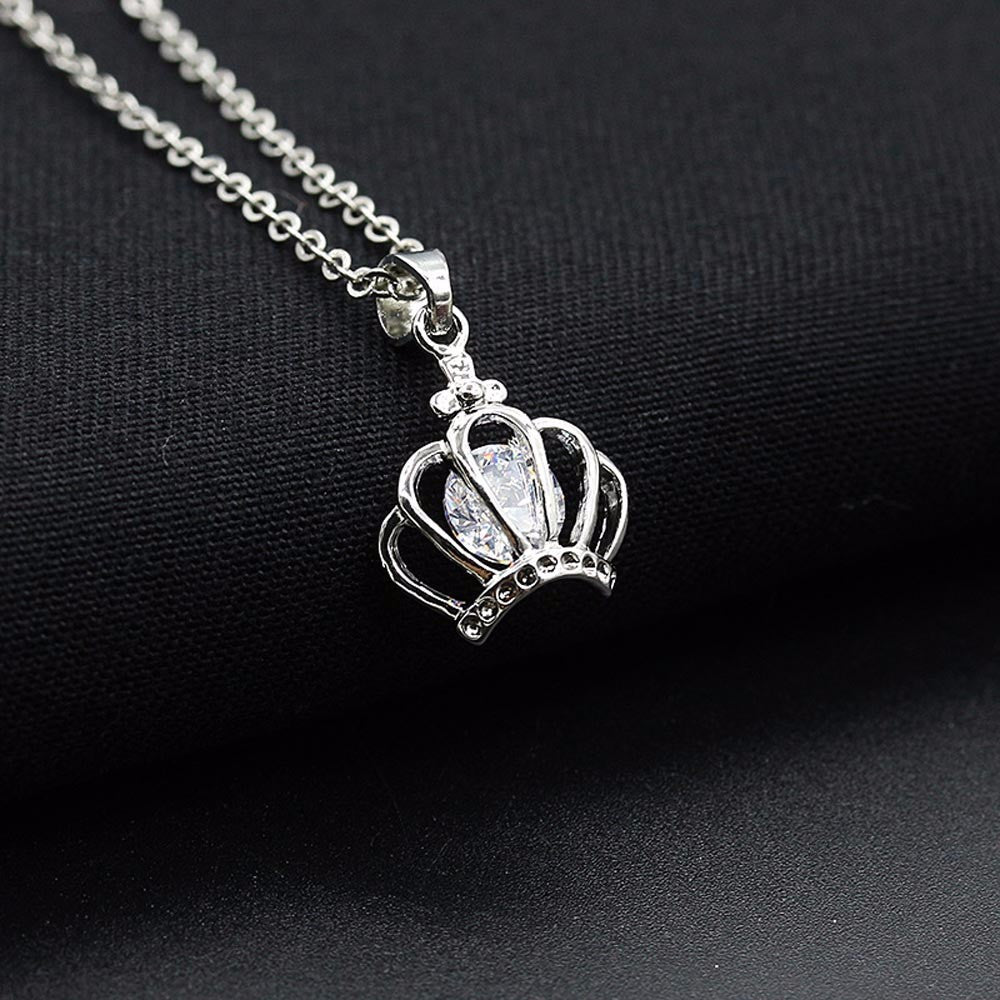SUSENSTONE Women Snowflake Crown Butterfly Owl Pendant Necklace Chain Necklace Jewelry  - handwristband
