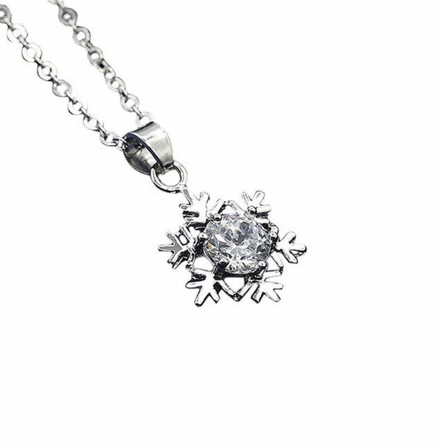 Special design and unique structure Women Snowflake Pendant Necklace Chain Necklace Jewelry 46+5cm #30  - handwristband