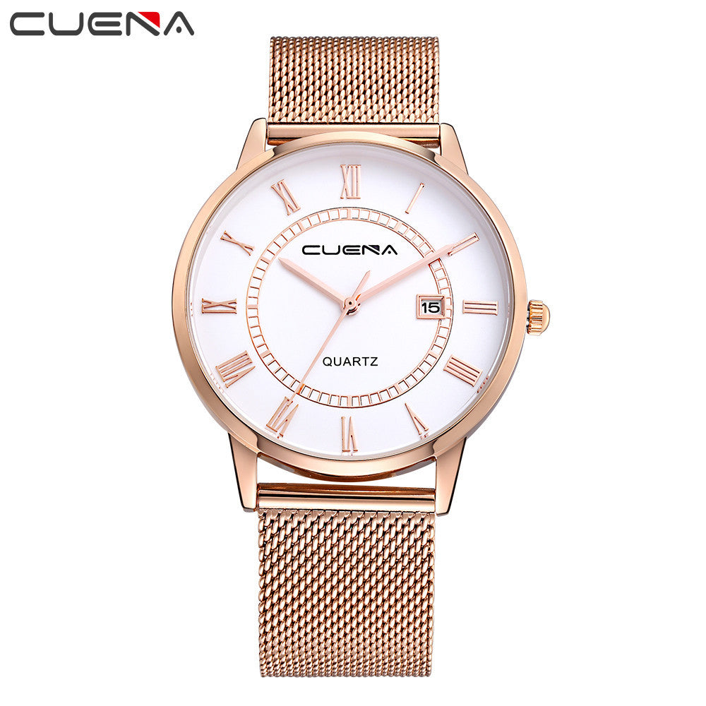 Fashion Men Casual Checkers Quartz Analog Wrist Watch Stainless Steel Watches  - handwristband
