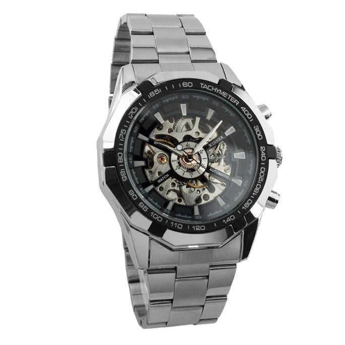 Men Watch Mechanical Automatic Self-Winding Hollow Engraving  - handwristband