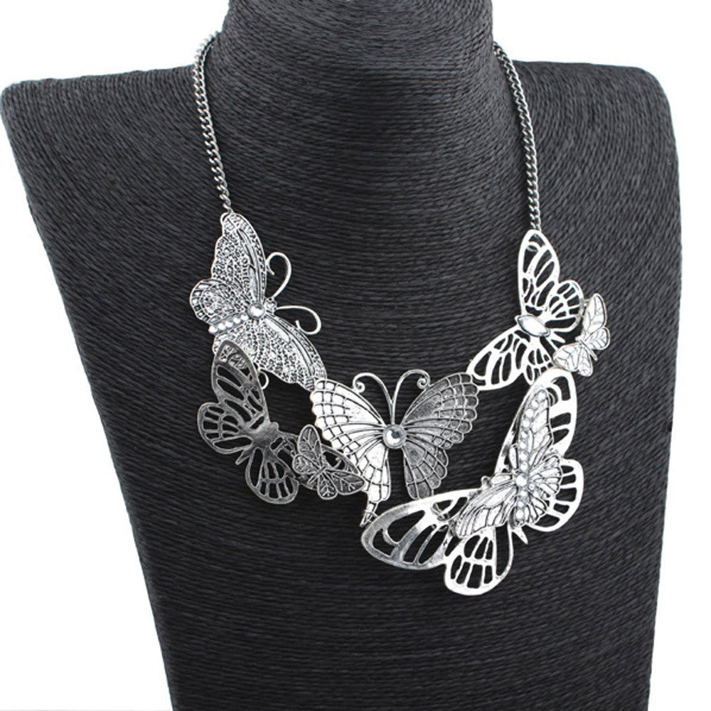 Women Butterfly Necklace Chain Jewelry  - handwristband