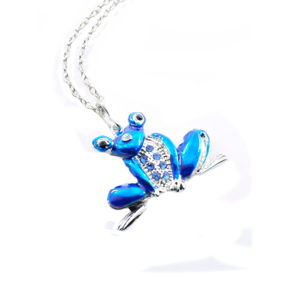 Toad Animal Necklace Pendant Long Sweater Chain Jewelry Crystal BU  - handwristband