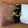 New Brand Fashion Bracelet Men Pave CZ Column  - handwristband
