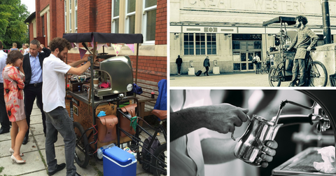 Handlebar Barista trikes serving coffee in Cardiff and beyond