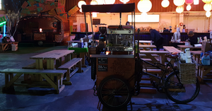 Handlebar barista events coffee trike for hire