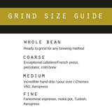 Handlebar Barista coffee grind size guide
