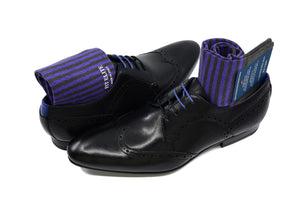 Men's purple socks for formal and casual wear, made in Italy
