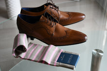 Pink wedding socks for a groomsman or best man, made in Italy