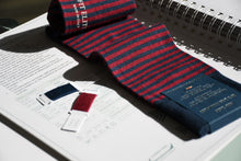 Striped dress socks for men, made in Italy from luxury Egyptian cotton