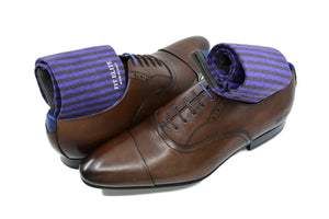 Purple dress socks for men with class, made in Italy