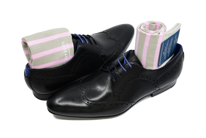 Pink dress socks for men made from premium Egyptian cotton