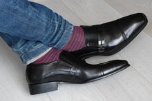Wearing casual dress socks for men with monk strap shoes