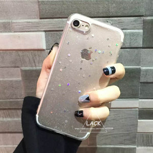 Cute Star Cover Shining Powder Phone Case