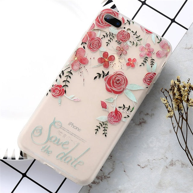 Relief Floral Embossed TPU Silicon