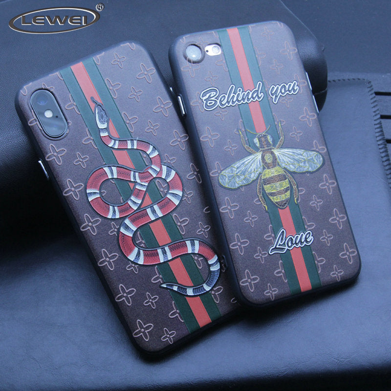 Embroidery Style Slim Soft Phone Case