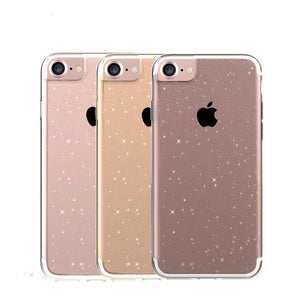 Glitter Shining Ultra Thin Slim Transparent Silicone