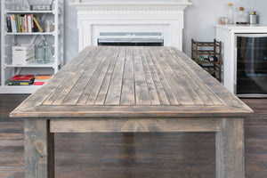 Traditional Gray Farmhouse Table