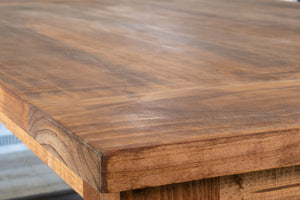 Rustic Wide Plank Farmhouse Table