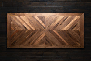Mirrorred Chevron Walnut Table