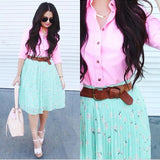 Pleated Chiffon Skirt - L, XL Only
