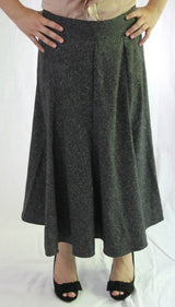 Panel Skirt - Charcoal Tweed