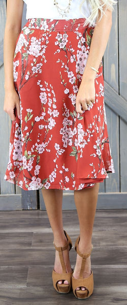 Cherry Blossom Circle Skirt