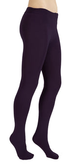 Eggplant Plush Fleece-Lined Tights