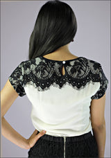 Lace Shoulders Top