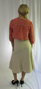 Back of Bow Belt Swirl Skirt