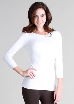 3/4 Sleeve Crew Neck Layering Top