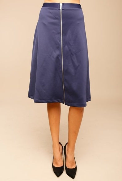 Zipper Skirt- Navy