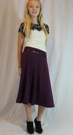 Belted Circle Skirt
