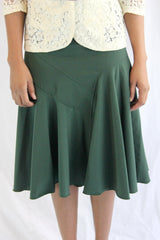 Forest Green Sister Missionary Skirt