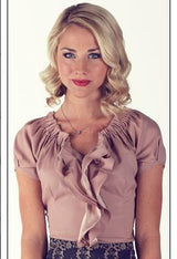 Double Ruffle Top - rose