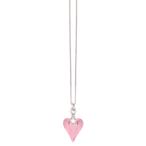 Swarovski Heart Necklace - Modest  - Sister Missionary Clothing - Sorella Bella