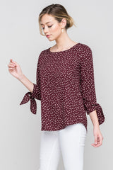 Chocolate Polka Dot Blouse - Modest Tops - Sister Missionary Clothing - Sorella Bella