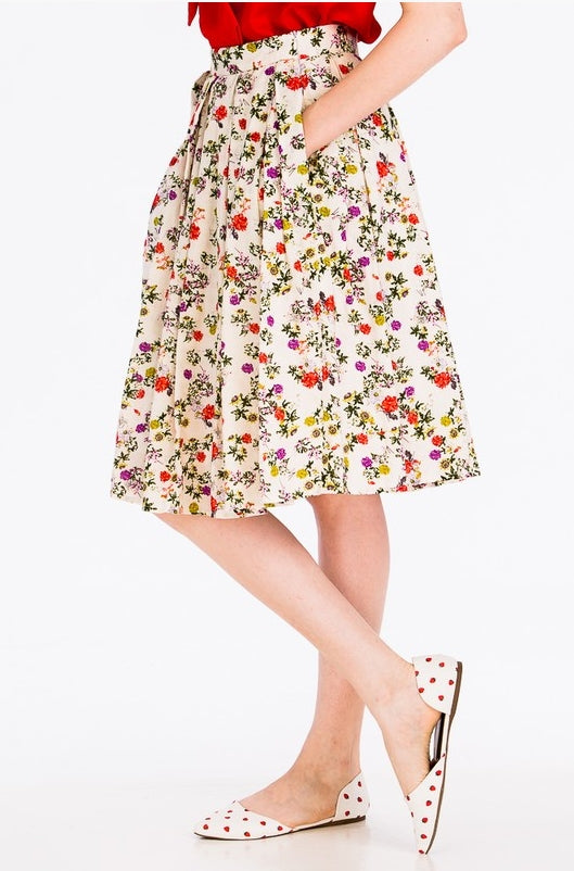 Antique Floral Skirt