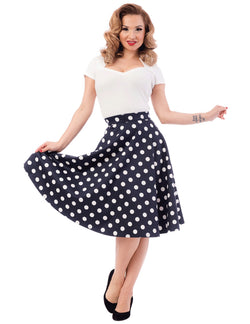 Retro Dot Thrills Skirt