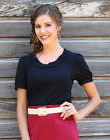 Love My Collar Top - XS, XL, XXL Only - Modest Tops - Sister Missionary Clothing - Sorella Bella
