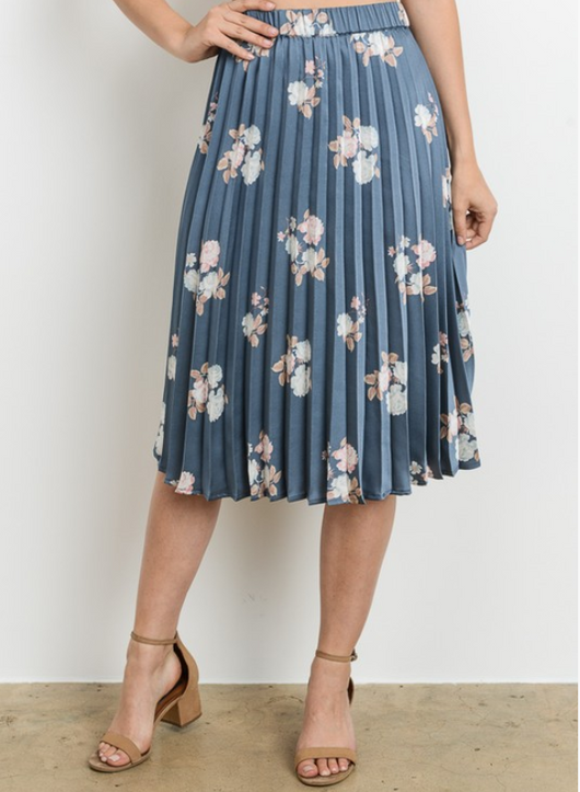 Lilah Floral Skirt - Modest Skirts - Sister Missionary Clothing - Sorella Bella