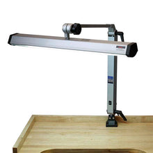 Load image into Gallery viewer, Extra-Wide Silver-Finish Fluorescent Jeweler's Task Lamp-Pepetools