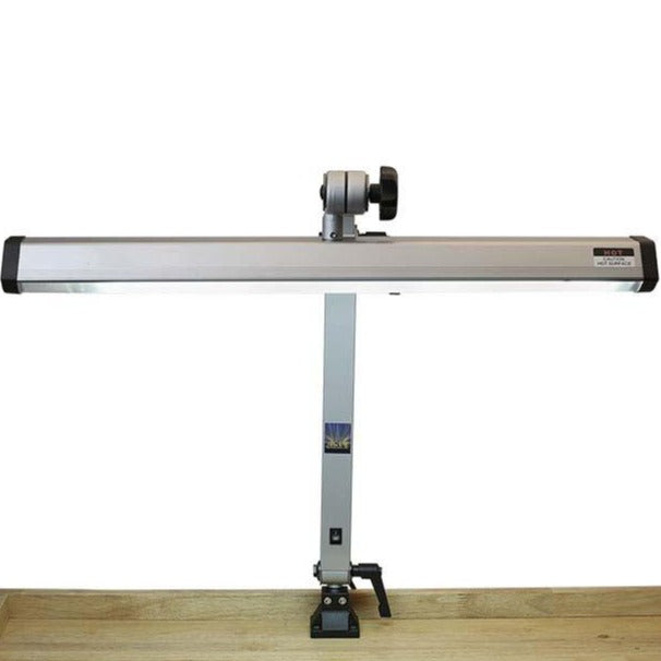 Extra-Wide Silver-Finish Fluorescent Jeweler's Task Lamp-Pepetools